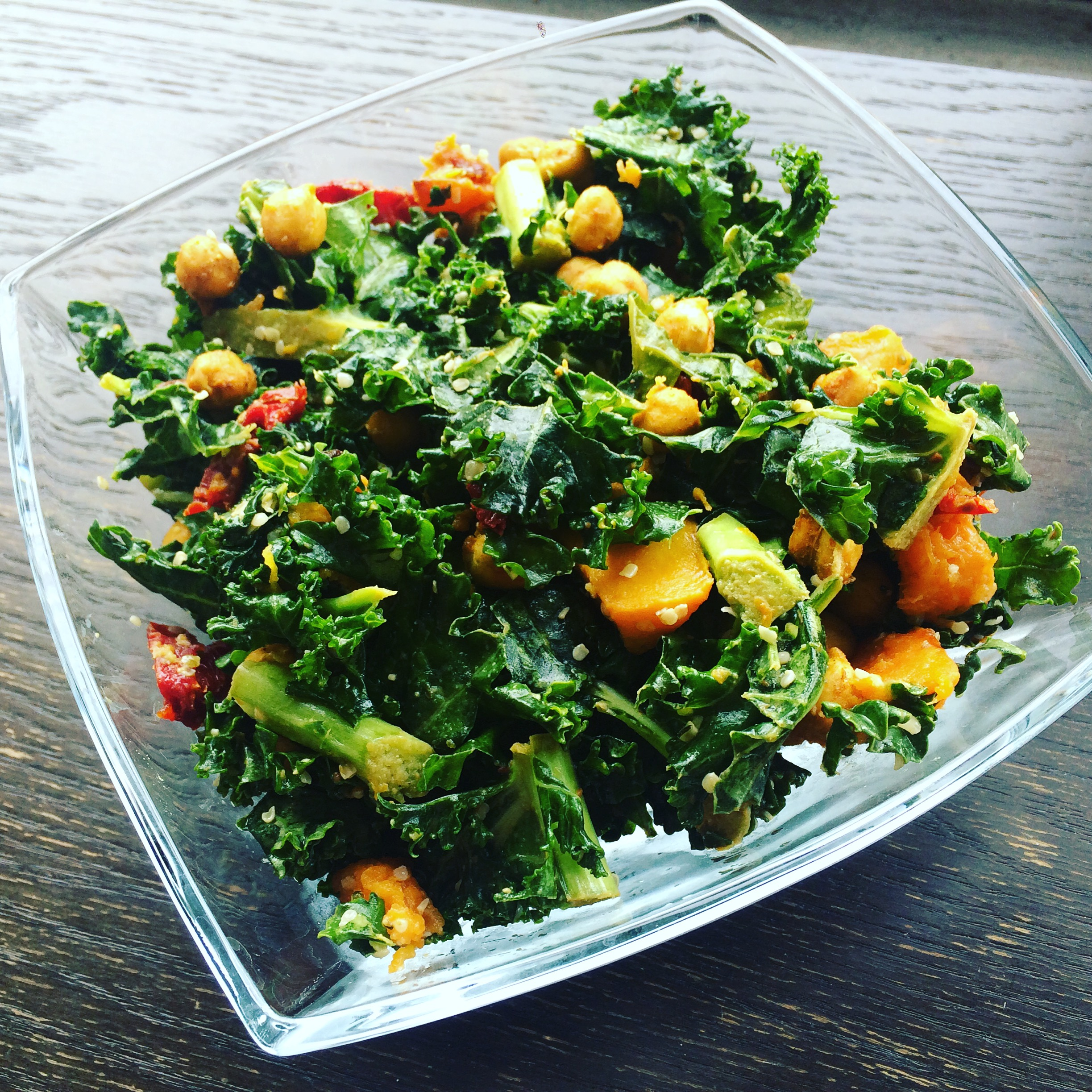 Meatless Meals that Don't Suck: Crispy Chickpea Kale Salad
