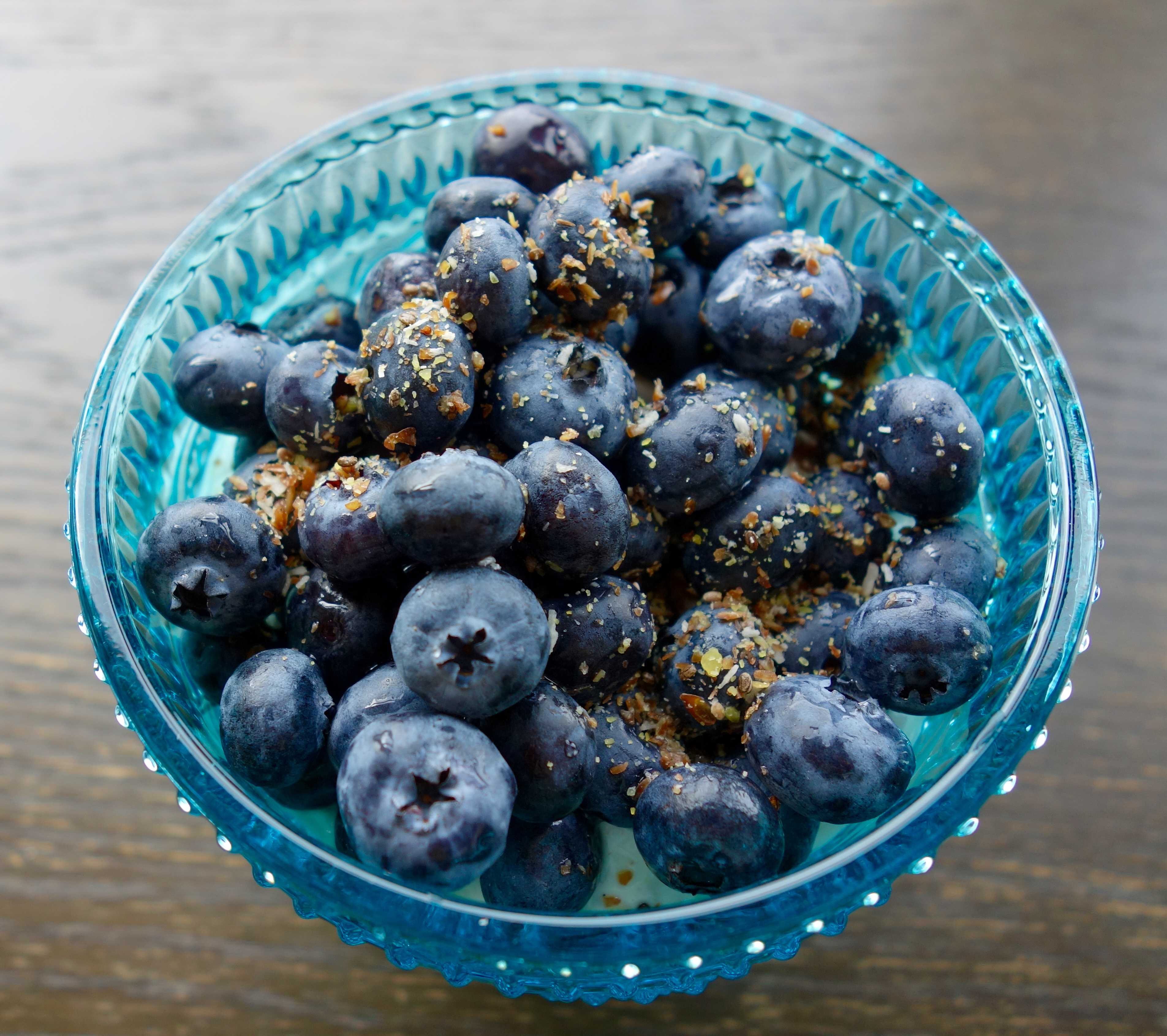 Zucchini or  blueberry surplus? Make this for breakfast.