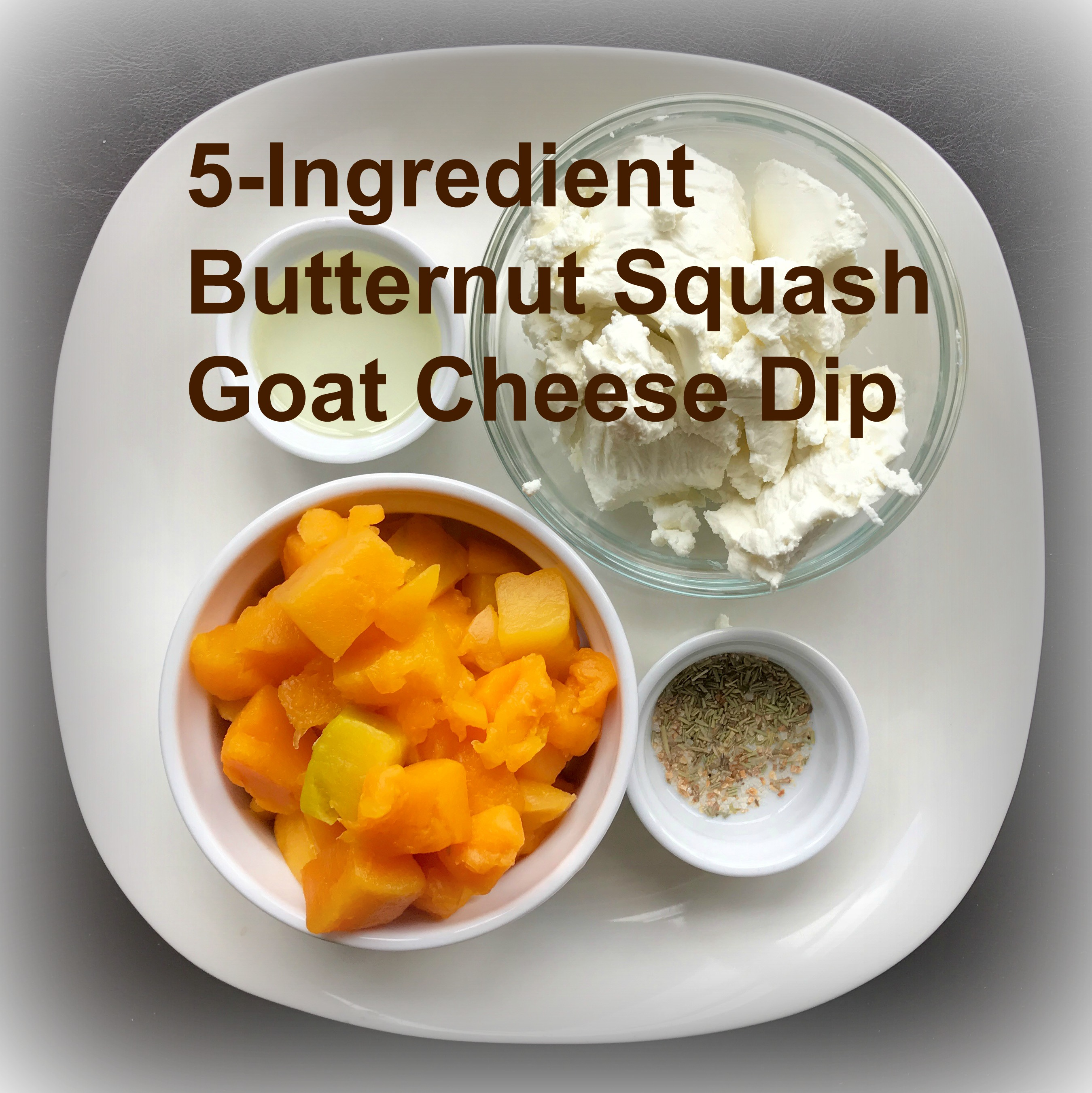 5-Ingredient Butternut Squash Goat Cheese Dip