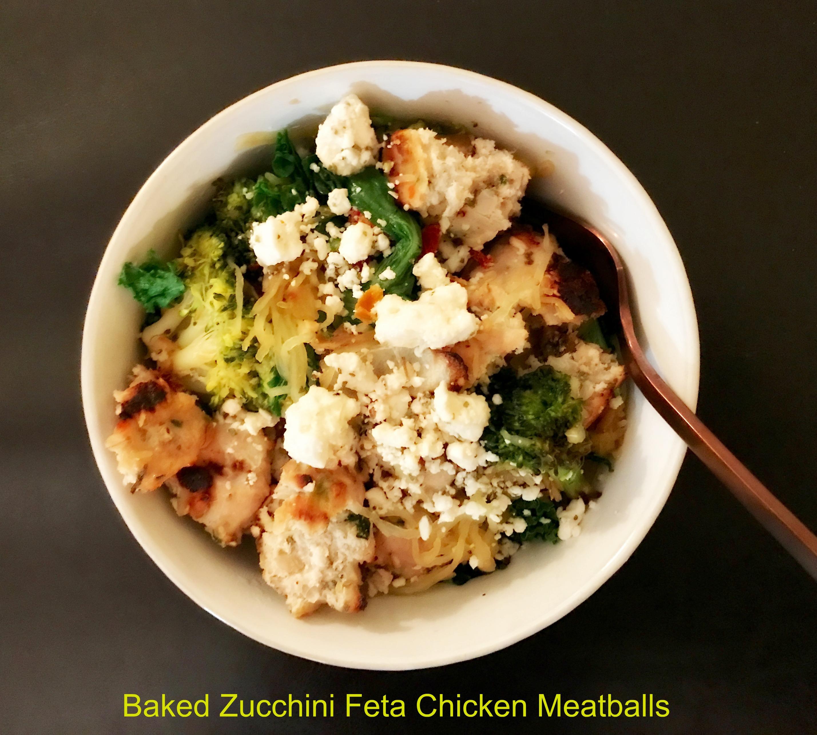 Zucchini Feta Chicken Meatballs