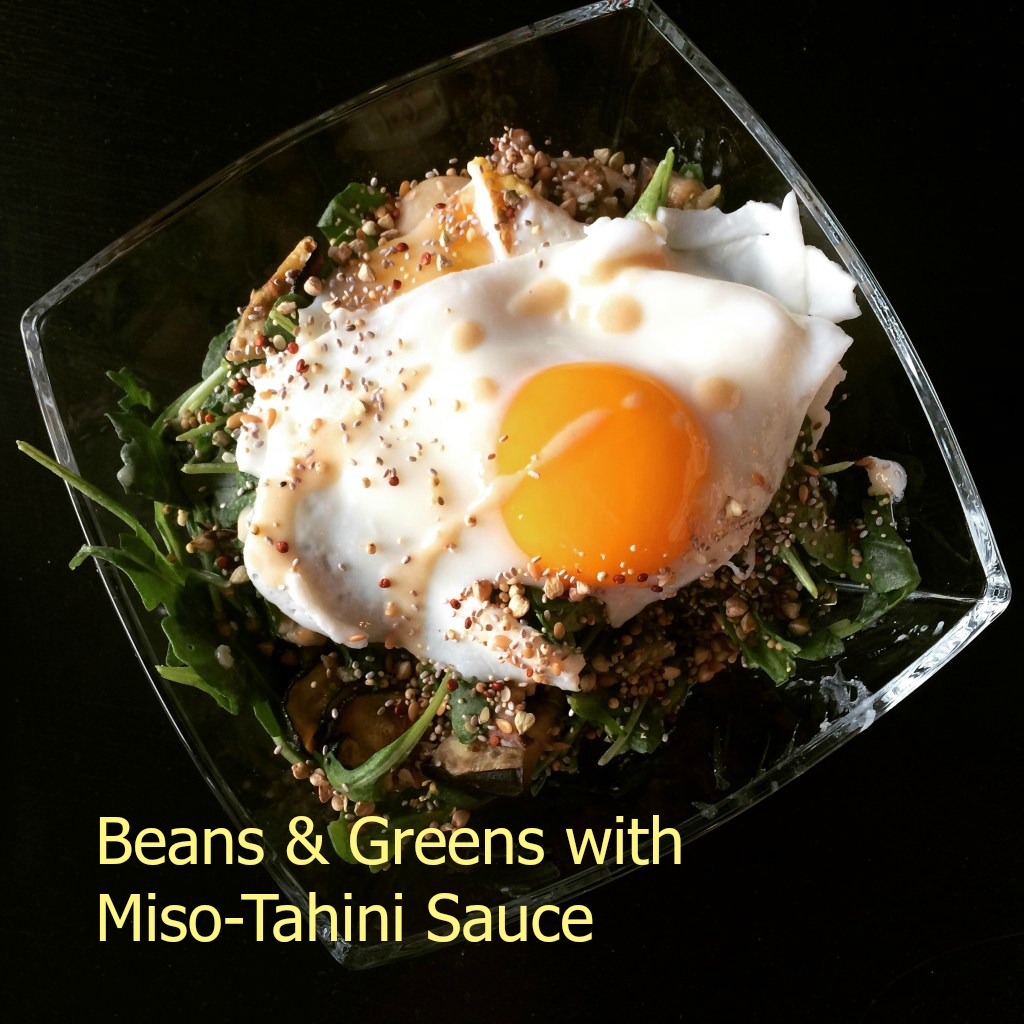 Old Favorite: Beans & Greens with Miso-Tahini Sauce