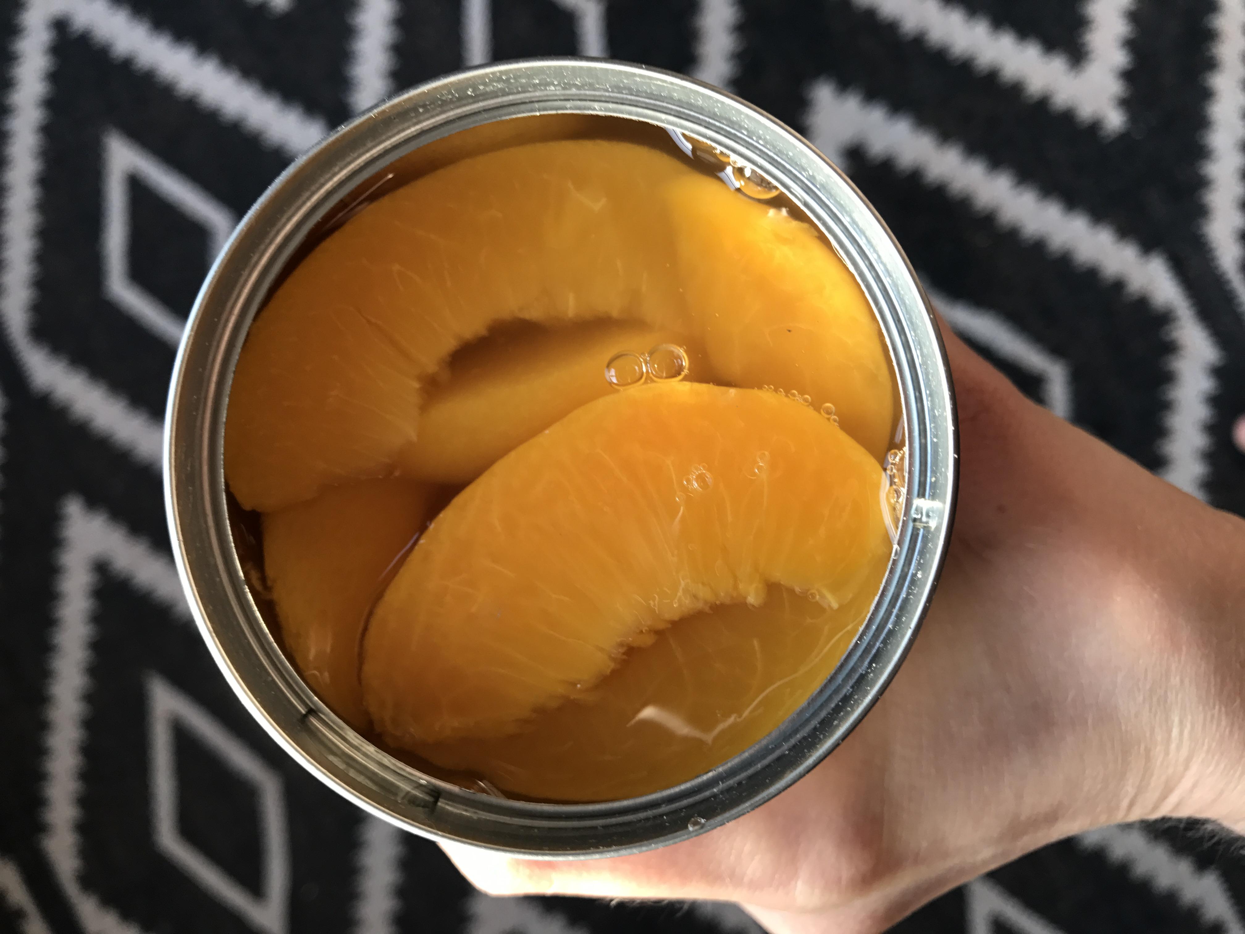 Lower-Sugar Ginger Peach Crisp with Libby's (sponsored)