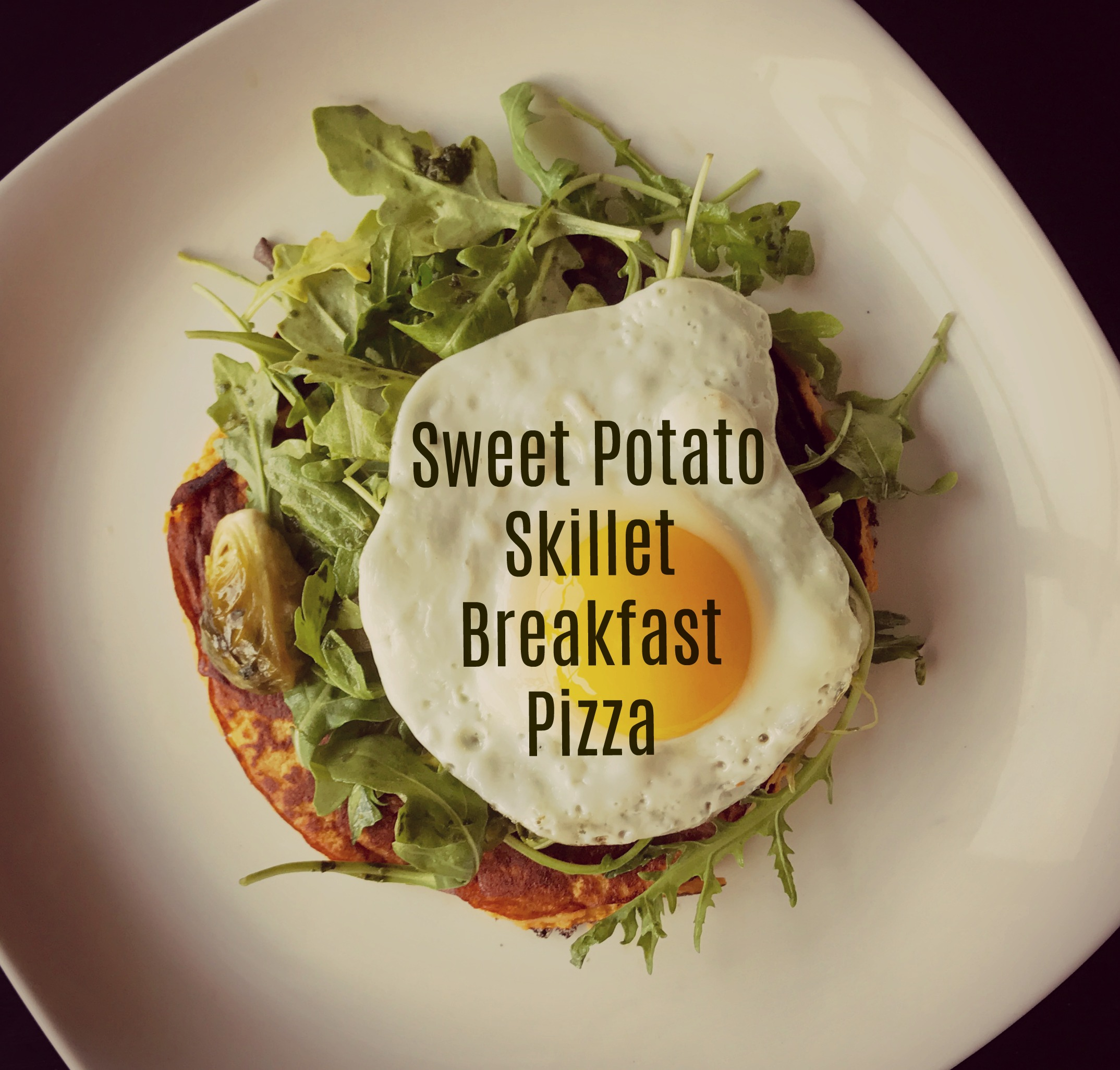 Sweet Potato Skillet Breakfast Pizza