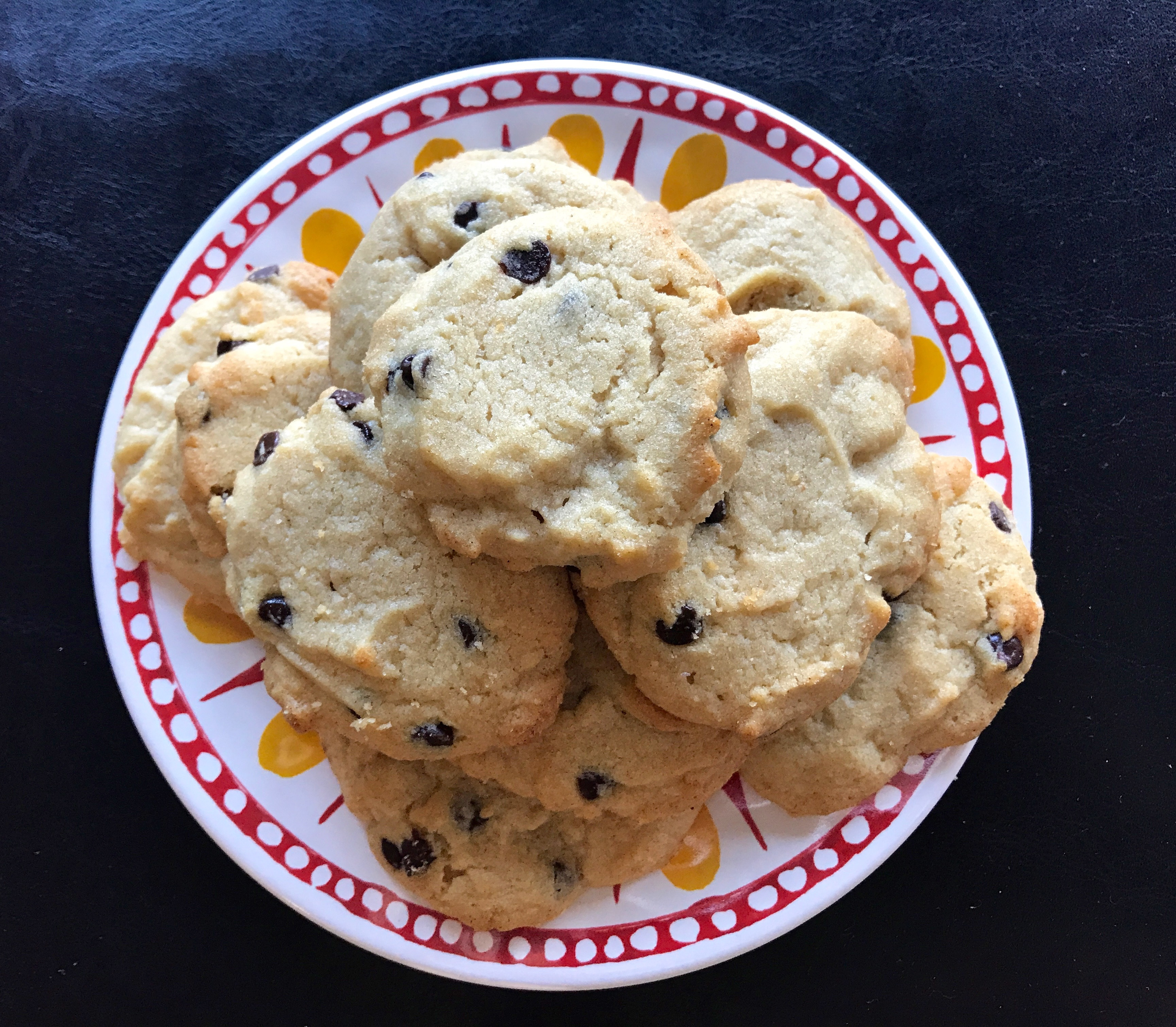 Salted Dark Chocolate Chip Tahini Cookies