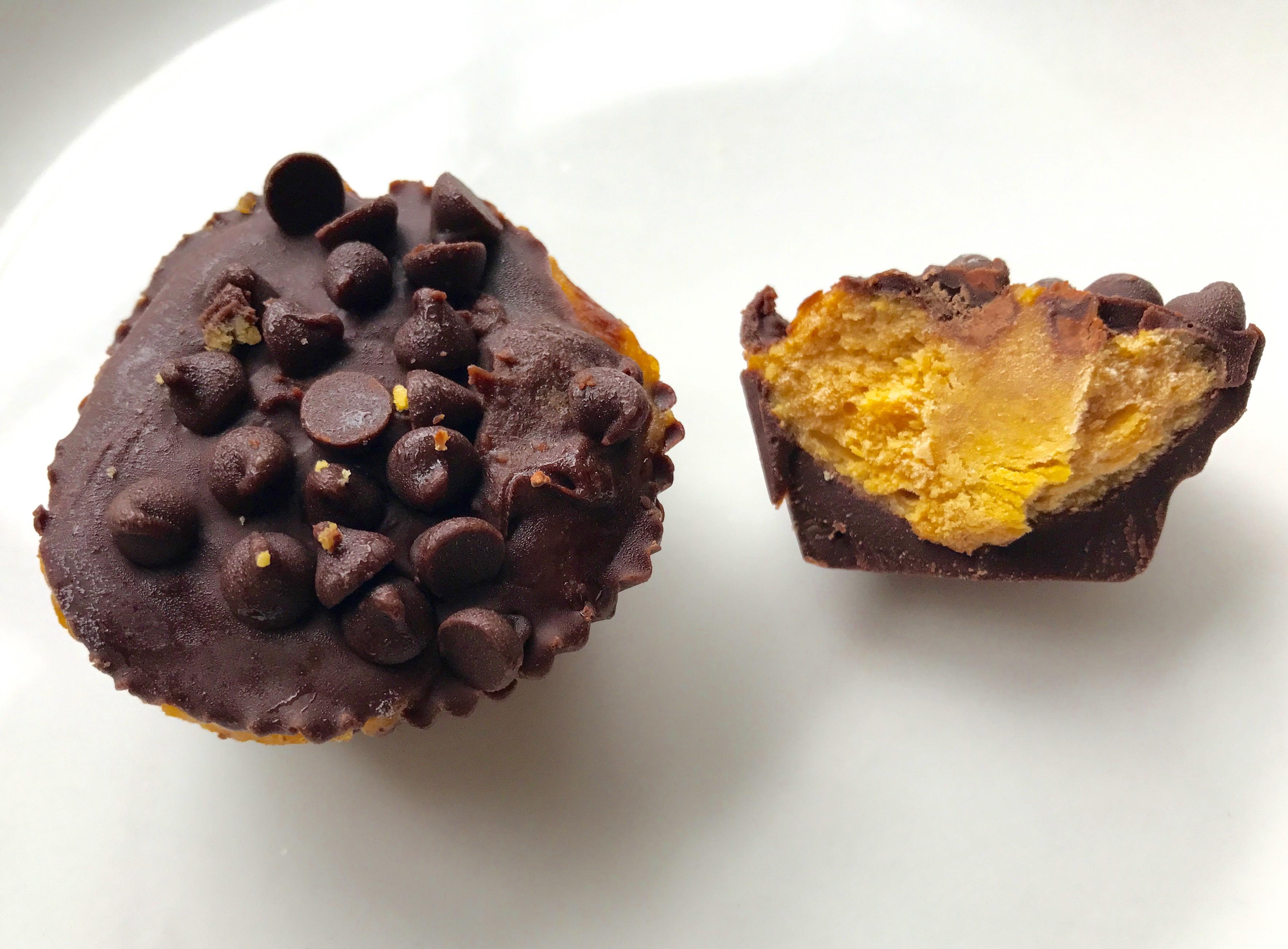 Dark Chocolate Pumpkin Tahini Cups