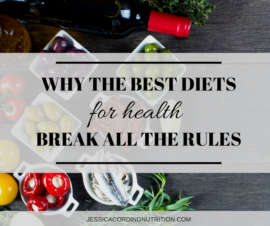 Guest Post: Why The 3 Best Diets For Health Break All The Rules