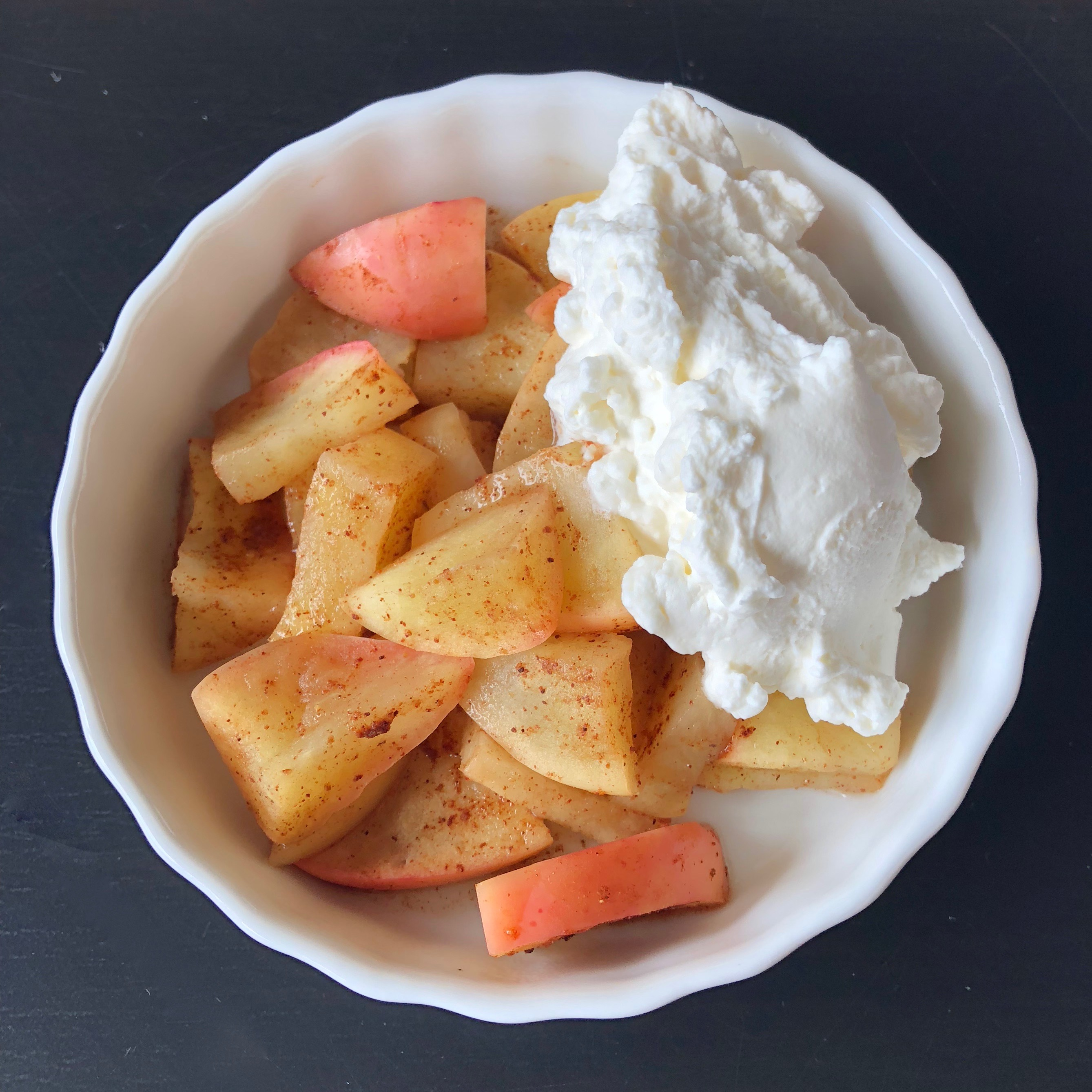 Easy Baked Apple Dessert With Maple Whipped Cream