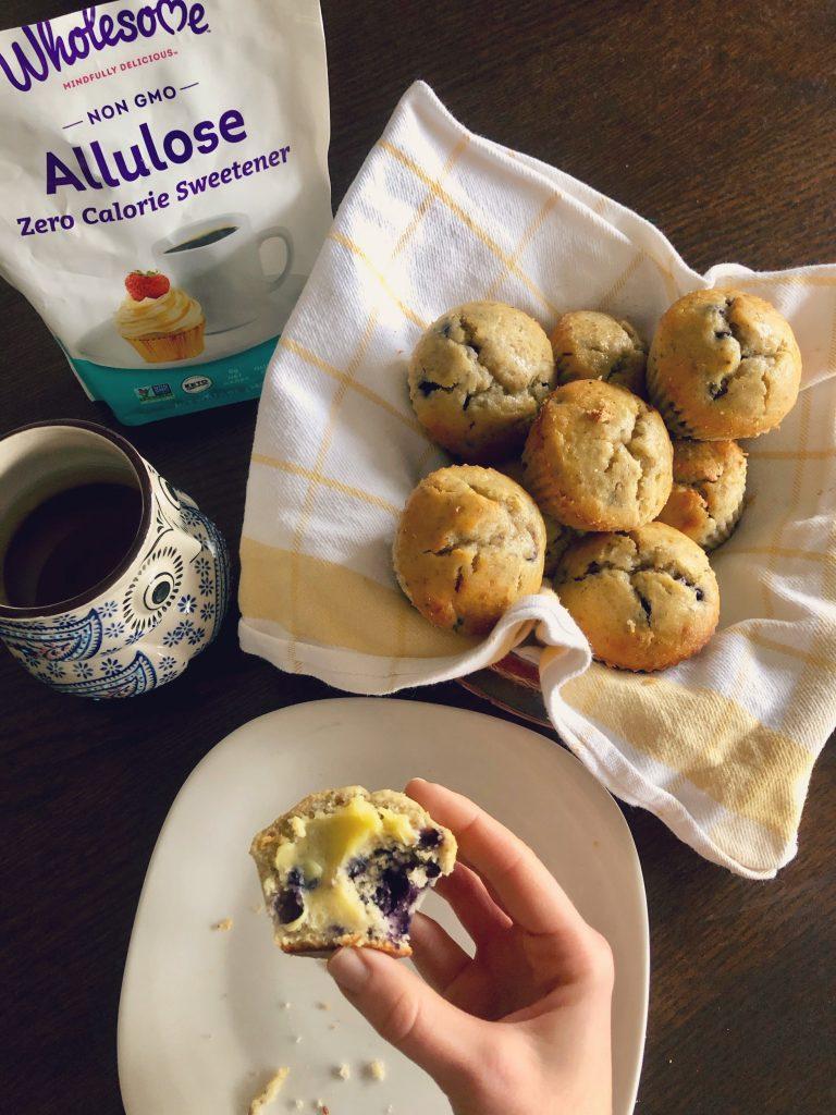 allulose-blueberry-lemon-muffin