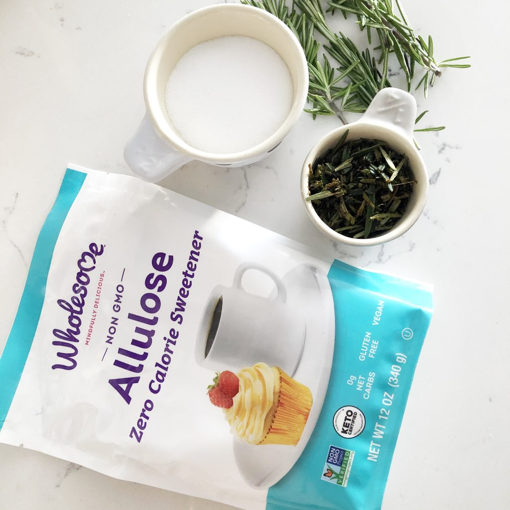 allulose-rosemary-syrup-ingredients