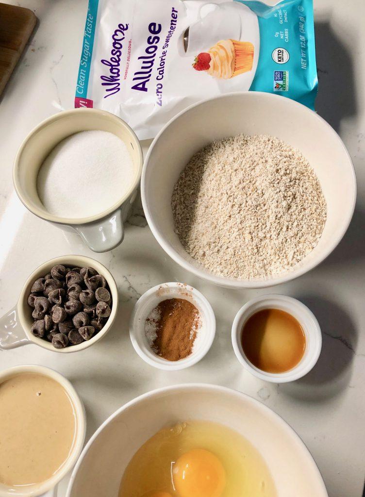 CookieIngredientsMiseEnPlace 752x1024 - Gluten-Free Tahini Oat Flour Chocolate Chip Cookies